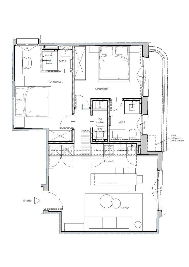 Cache Unité Extérieure Climatisation monte-carlo 2 bedrooms apartment - monte-carlo 2 bedrooms